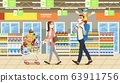 Family Stocks Groceries During a City Pandemic 63911756