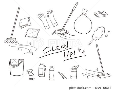 청소 용품의 일러스트 63916681