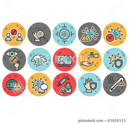 Coronavirus icon set 63920315