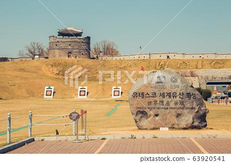 UNESCO World Heritage Hwaseong Fortress in Suwon, Korea 63920541