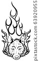wolf head mascot vector illustrator design art 63920955