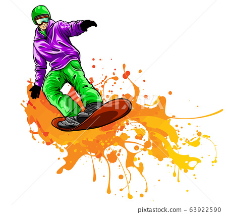 collection of snowboard, skiers vector illustration design 63922590