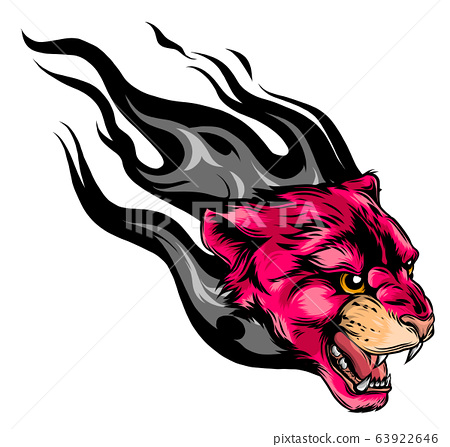 face of a drawn pink panther vector illustration 63922646
