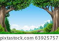 Landscape green hills mountains forest 63925757
