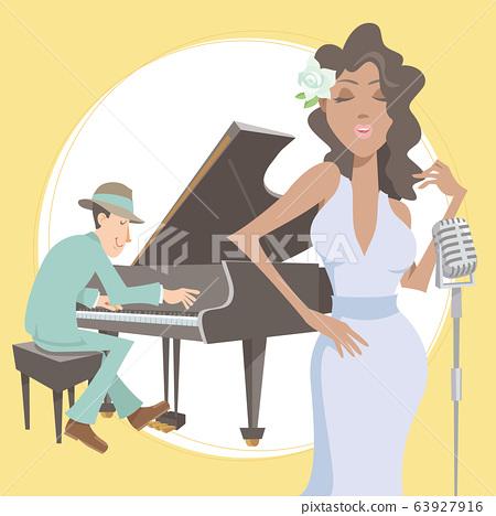 爵士樂演奏者。鋼琴演奏家和歌手。 63927916