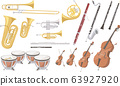Various instruments used in the orchestra 63927920
