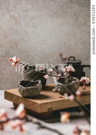 Tea drinking wabi sabi style 63931265