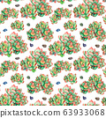 Watercolor seamless pattern with succulents plants 63933068