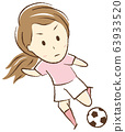 踢足球的女孩 63933520