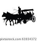 a cart , silhouette vector 63934372