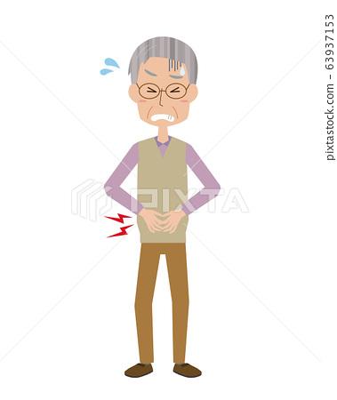腹痛,男性,祖父,疼痛,疾病,每餐,食物中毒,胃痛,全身 63937153