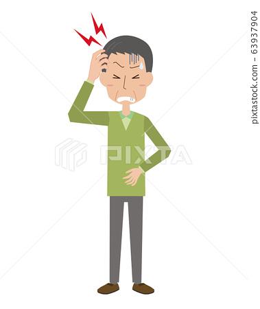 頭痛,中風,腦出血,腦血栓形成,男性,中年男性,父親,全身 63937904