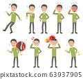 Pain Sickness Symptoms Whole body Pose Set 63937905