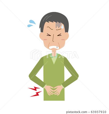 腹痛中年人父親每次進餐疼痛病食物中毒胃痛上身 63937910
