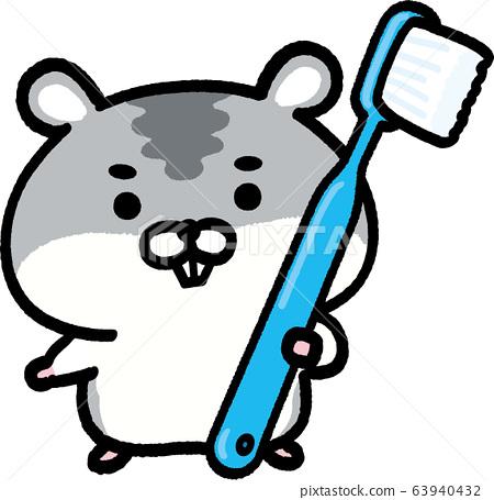 Djungarian倉鼠用牙刷-淺藍色 63940432