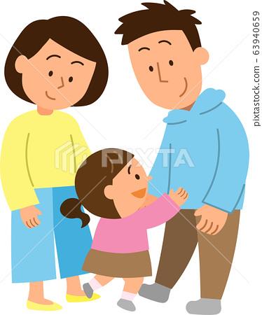 부모 아버지 · 어머니 · 딸 1 63940659
