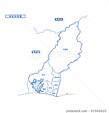 Hamamatsu City Map Simple Blank Map 63940820
