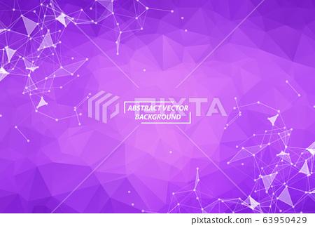 Abstract Purple Geometric Polygonal background 63950429