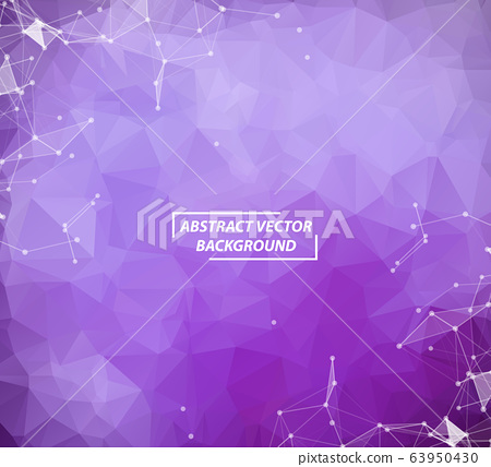 Abstract Purple Geometric Polygonal background 63950430