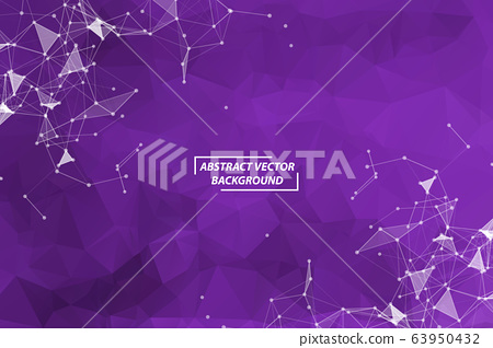 Abstract Purple Geometric Polygonal background 63950432