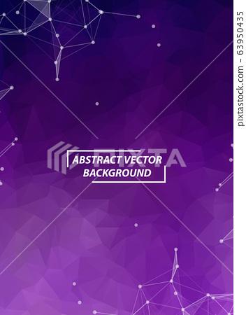 Abstract Purple Geometric Polygonal background 63950435