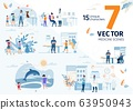 Modern Healthcare Services Flat Vector Scenes Set 63950943