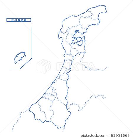 石川縣地圖簡單的空白地圖 63951662