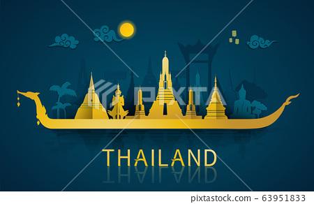 Thailand travel illustrator 63951833