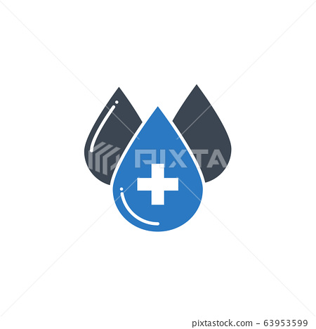 Blood Donation related vector glyph icon. 63953599