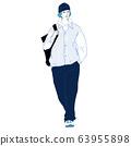 時尚的年輕人(全身,春季/秋季/冬季) 63955898