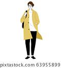 時尚的年輕人(全身,春季/秋季) 63955899