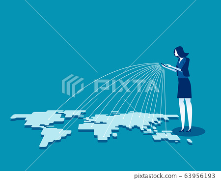 Telecommunication. Global connection 63956193