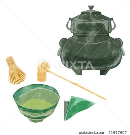 茶道器皿圖像插圖 63957997