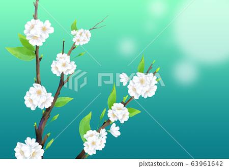 벚꽃일러스트,  63961642