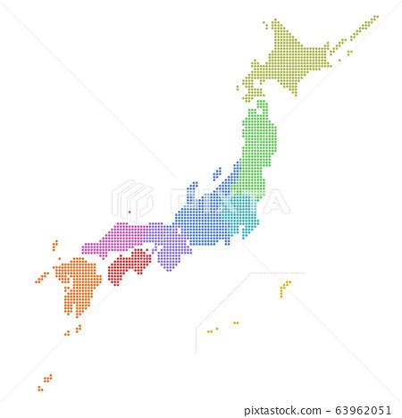日本地圖,點地圖,按地區,按地區,北領地 63962051