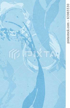 일본식 배경 소재 - 수류 - 파문 - 붓 - 필적 63965530