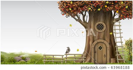 Fantastic fantastic landscape with a tree house 63968188