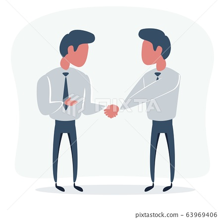Business Partners Shaking Hands As A Symbol Of Stock Illustration 63969406 Pixta