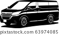 Minivan silhouette car illustration 63974085