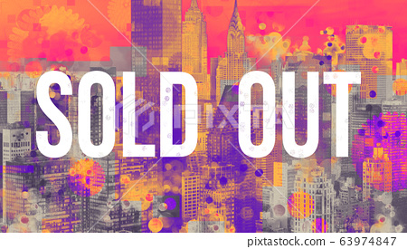 Sold out theme with the New York City skyline 63974847