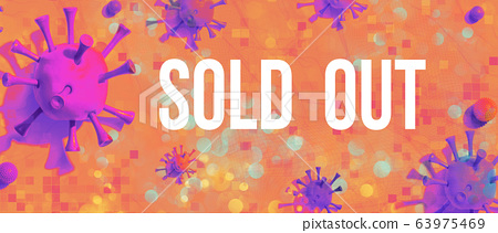 Sold out theme with viral objects 63975469