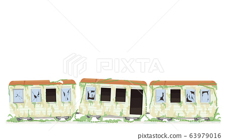 Abandoned Train Illustration 63979016
