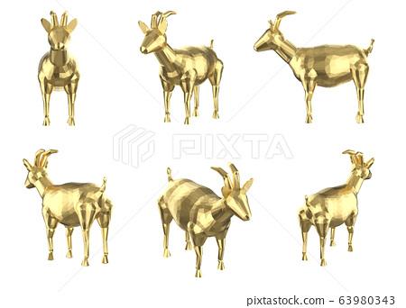 Set of polygonal goats 63980343