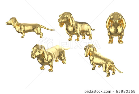 Set of polygonal dachshunds 63980369