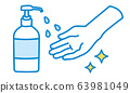 簡單的洗手消毒圖 63981049