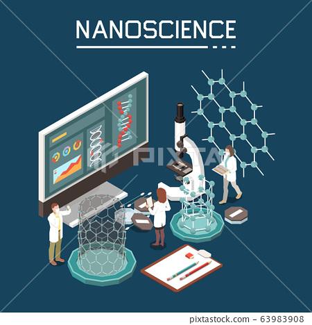 Nanotechnology Isometric Composition  63983908