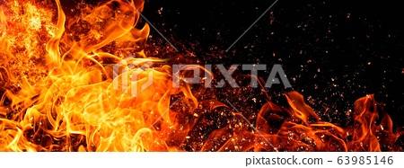 불꽃의 배경 63985146