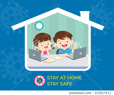 stay home stay safe for children 63987911