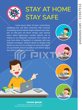 stay at home stay safe for children 63987918