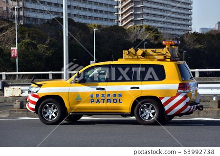 Patrol car of the Metropolitan Expressway 63992738